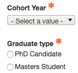 select cohort year