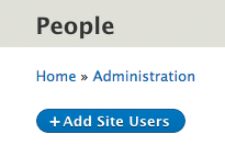 Add Site Users button