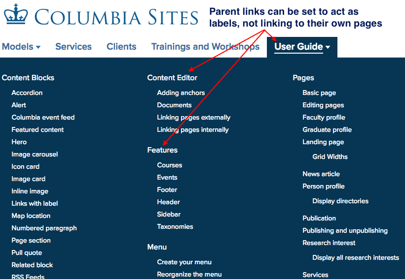 examples of parent links