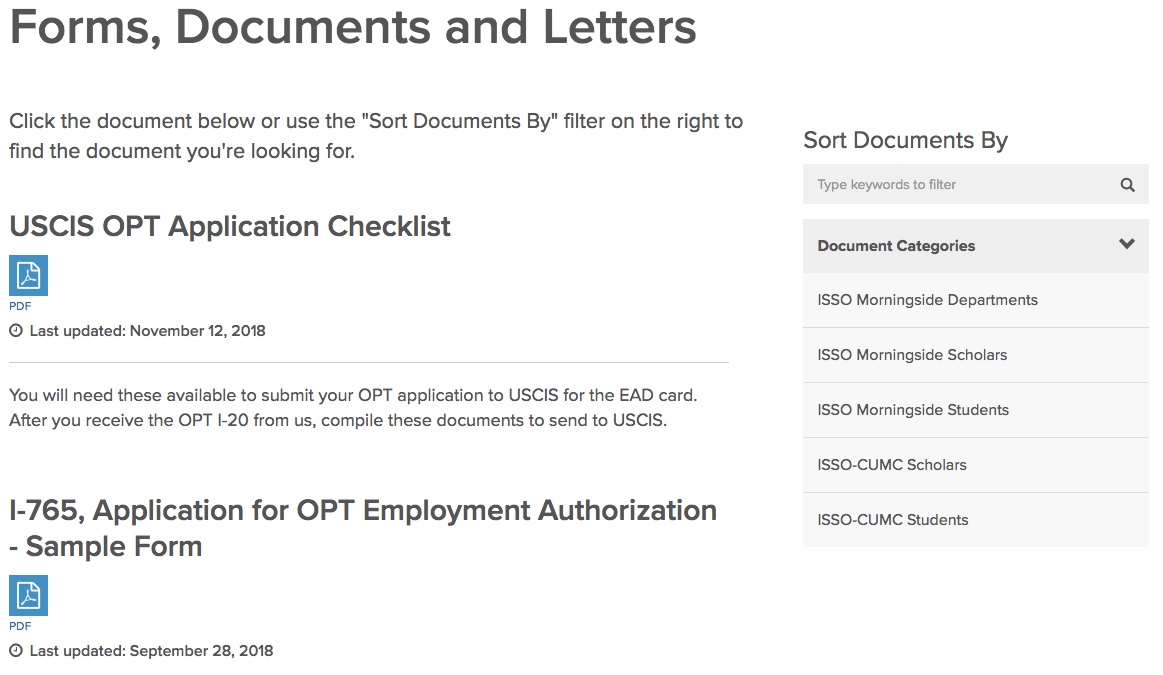 screenshot for document library